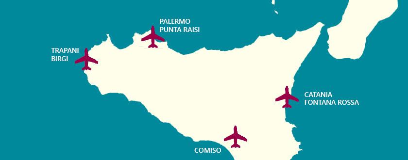Aeroporti In Sicilia Cartina.Tour Del Golfo Transfer Con Conducente Da E Per Aeroporto Di Trapani Palermo Cataniatour Del Golfo